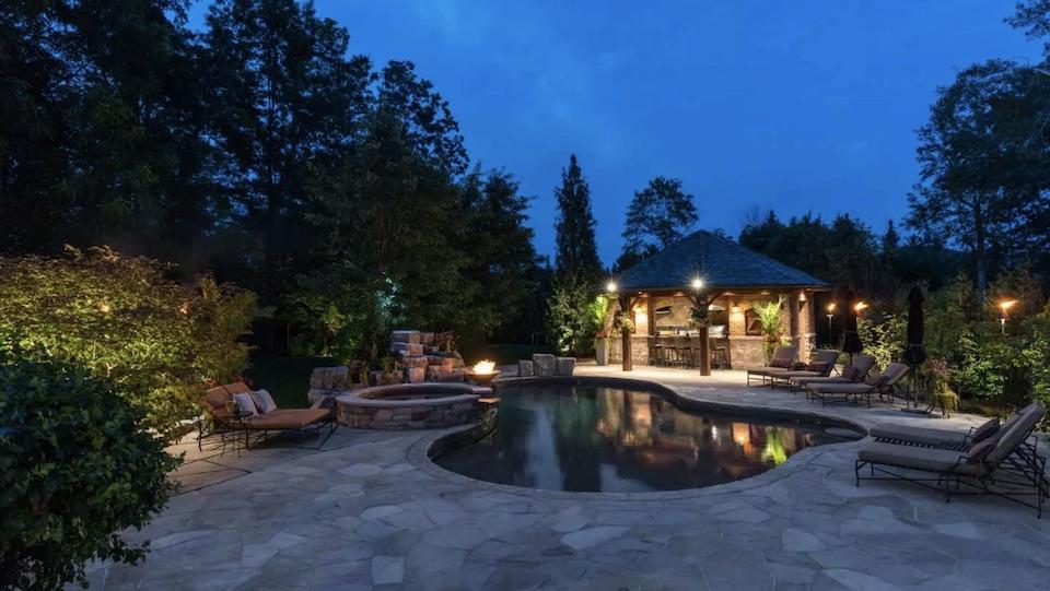 backyard lighting and audio