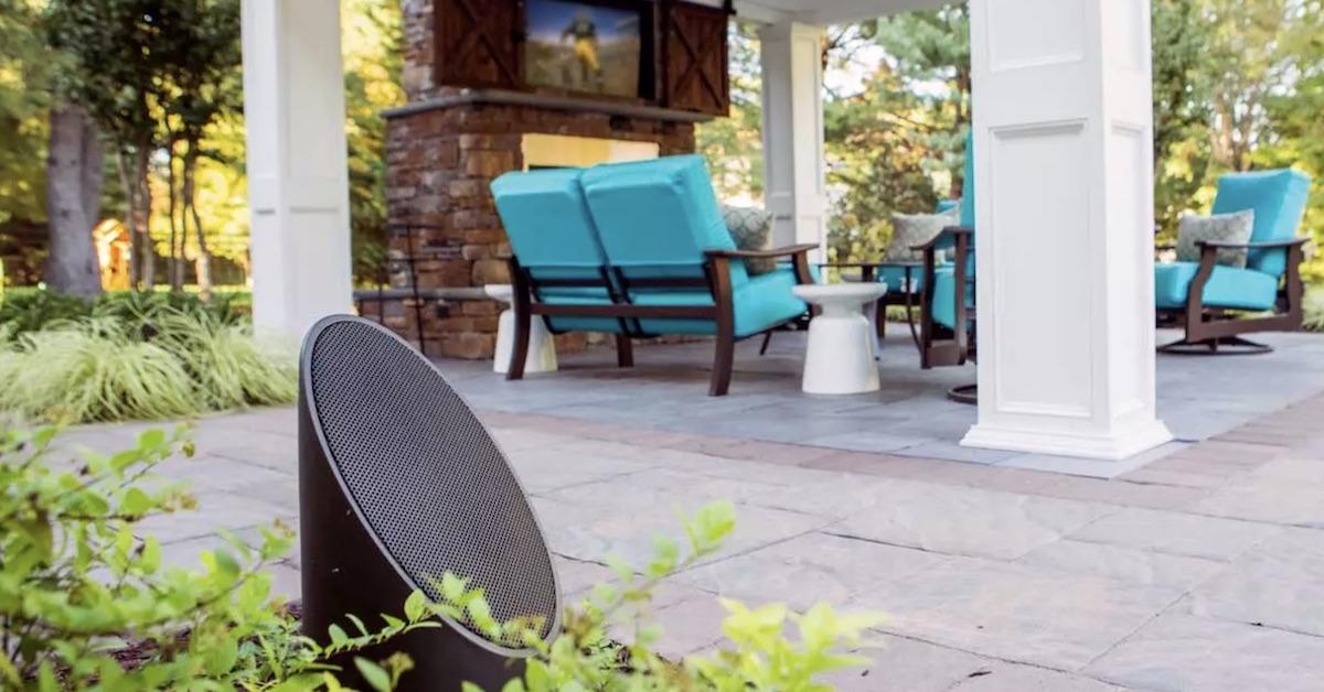 outdoor lighting and audio