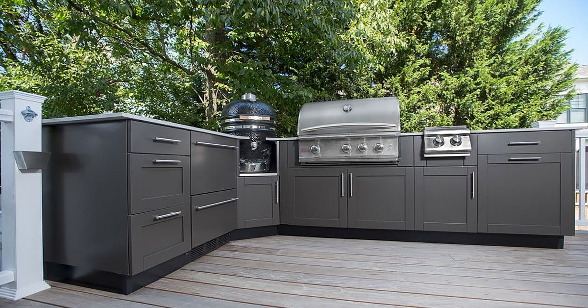 Outdoor Kitchen Cabinet Materials The 5 Most Popular Types Outeriors